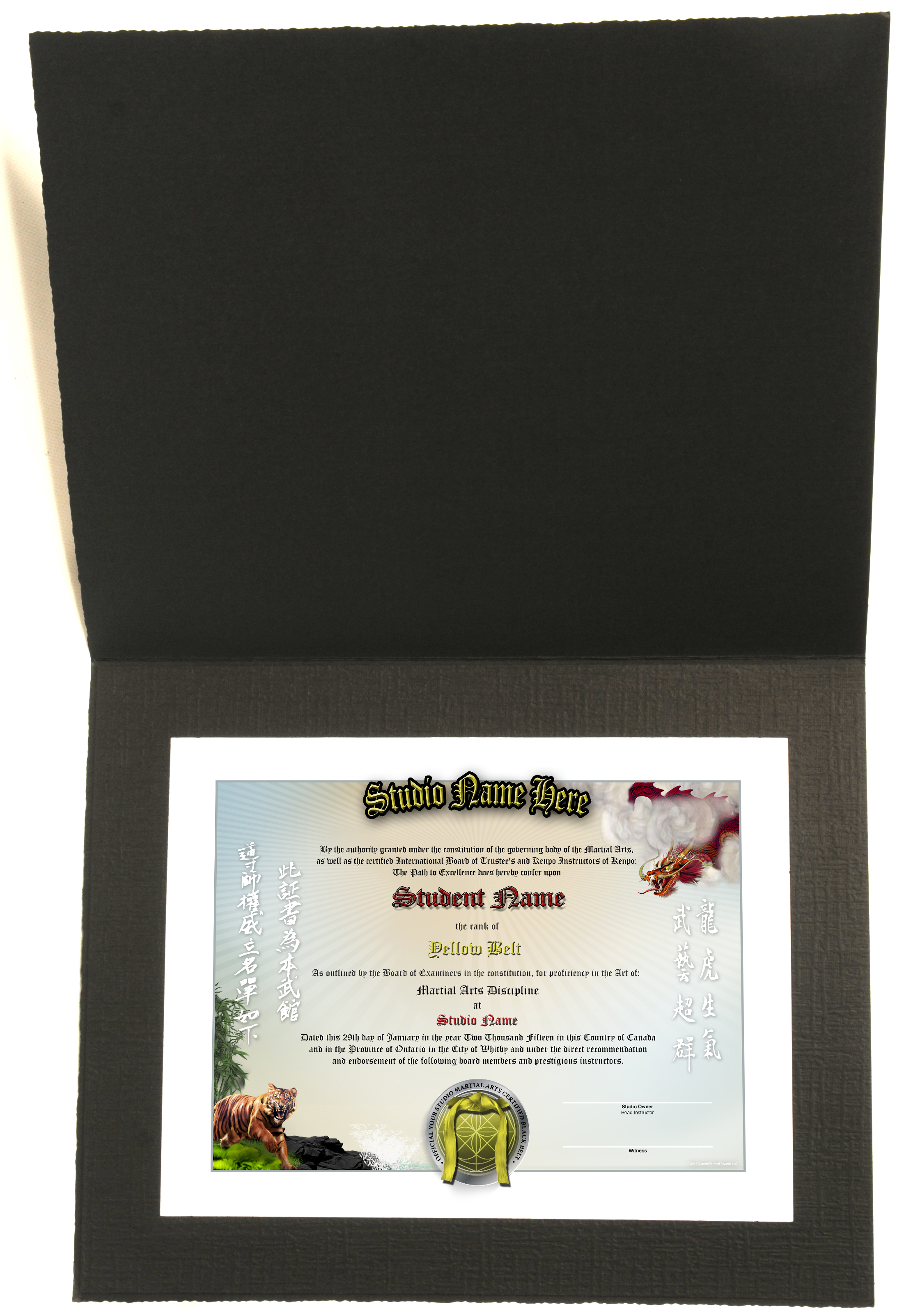 karate black belt certificate templates gallery - templates, Presentation templates