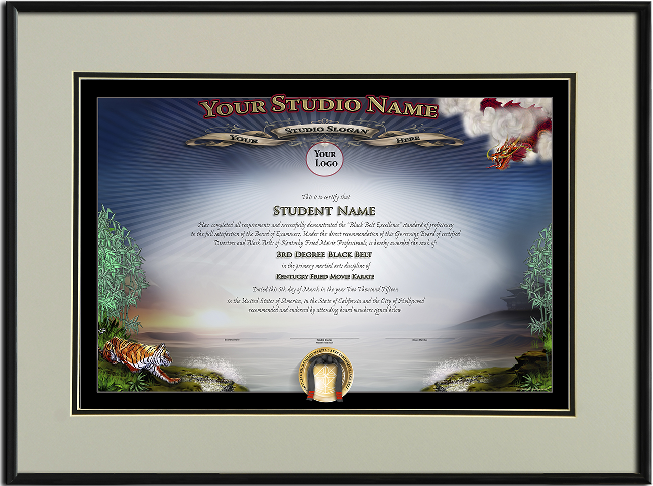 martial arts certificate templates gallery - templates example, Presentation templates