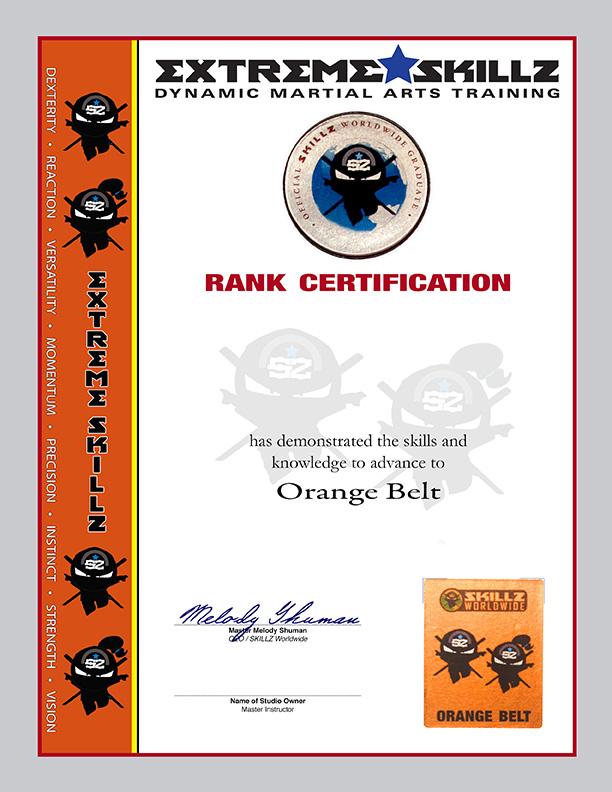 Extreme SKILLZ Belt Rank Certificate 5-Pack - Martial Arts Certificates