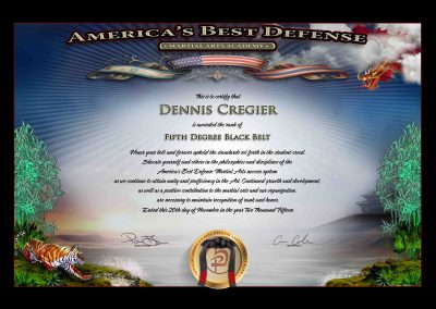 Americas Best Defense – Black Belt Sample