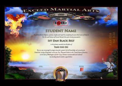 Exceed MA – Black Belt Certificate