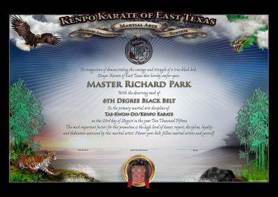 KKET – Black Belt Certificate