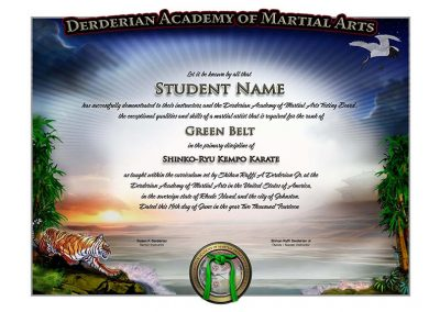 Derderian Lower Rank Certificate