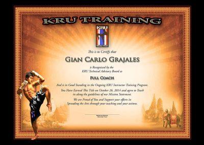 KRU – Muay Thai – Full Coach Certificate