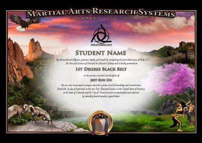 MARS – Colorado – Black Belt Certificate