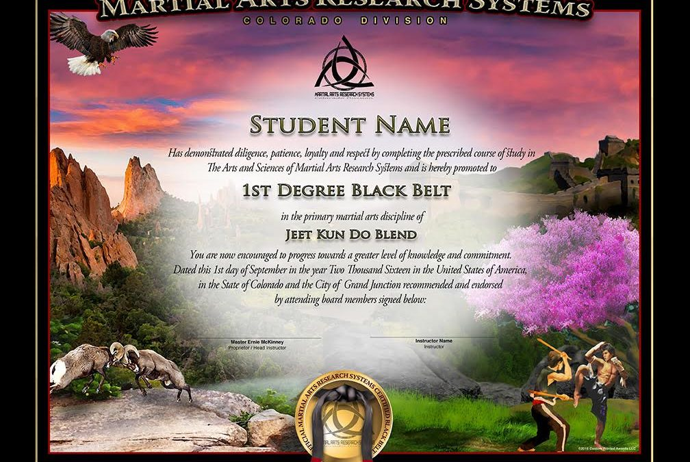 Martial Arts Research Systems – CO Division Completes Black Belt Testing