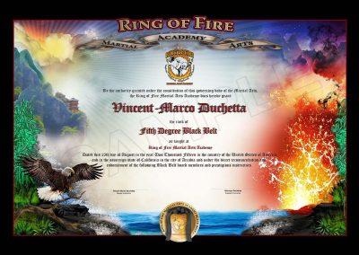 Ring of Fire – Black Belt Certificate