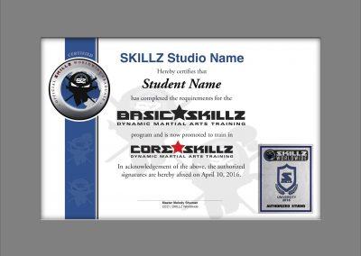 SKILLZ Worldwide Graduation Certificate