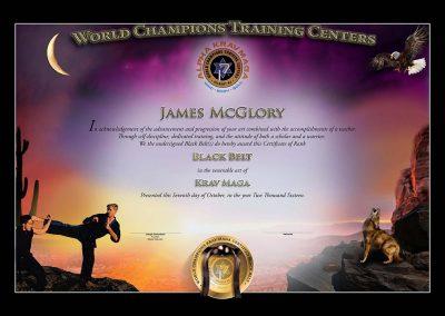 World Champions Training Centers – Black Belt Certificate