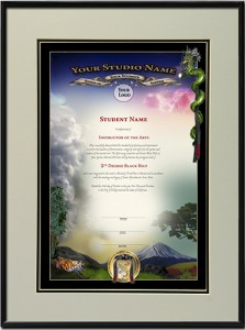 Mt. Fuji Black Belt Certificate Template