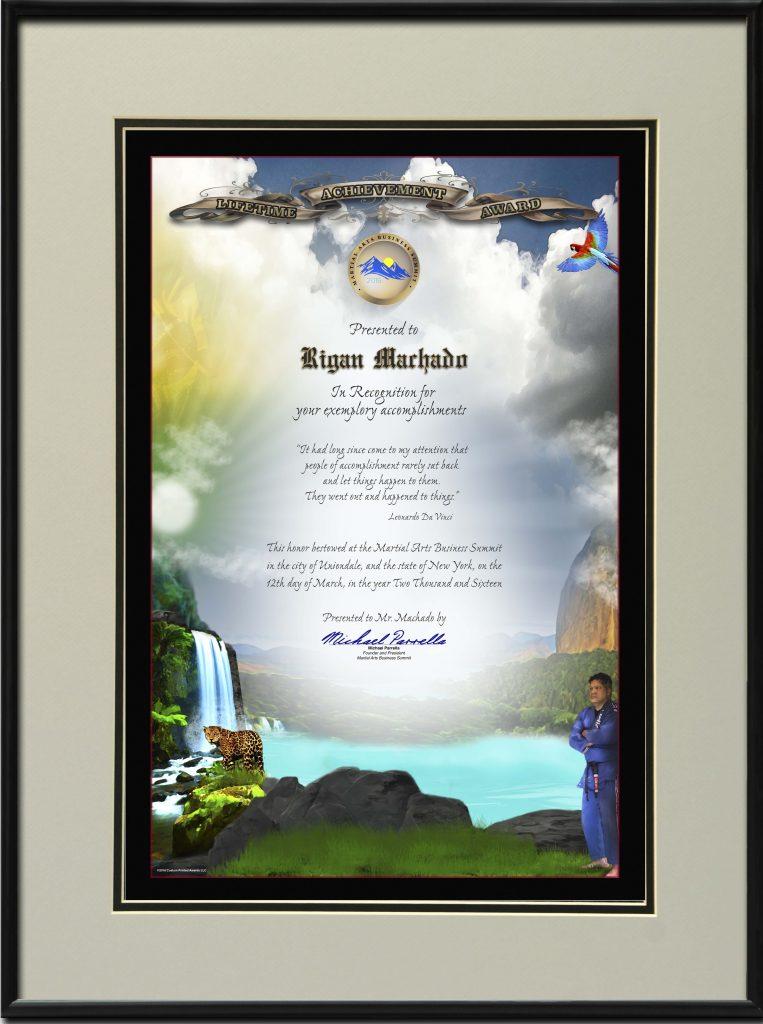 Brazilian Jiu Jitsu, BJJ, Martial Arts Lifetime Achievement Award