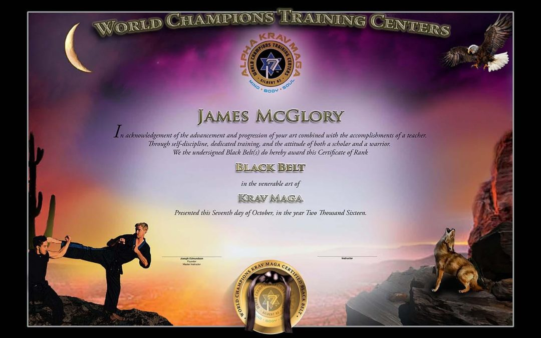 World Champions Training Centers – New Black Belt Certificate Design