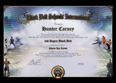 American Martial Arts – Black Belt Schools International – Black Belt Certificate