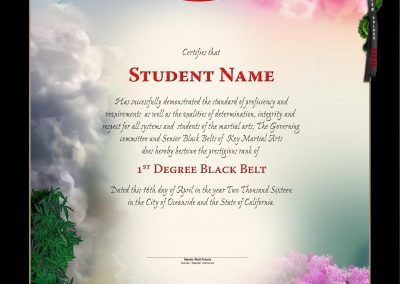 Key Martial Arts – Black Belt Certificate