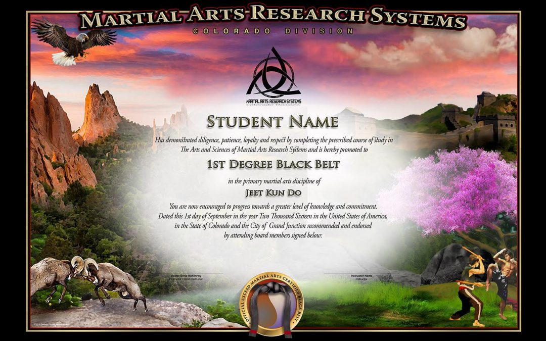 MARS – Colorado – Black Belt Certificate