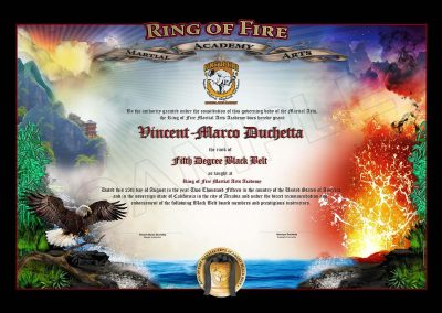Ring of Fire – Black Belt Certificate