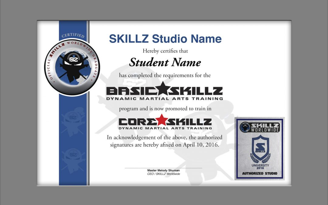 SKILLZ Worldwide Graduation Certificate