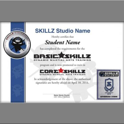 SKILLZ Graduation Certficates