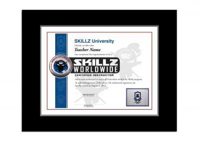 SKILLZ Worldwide Instructor Certificate