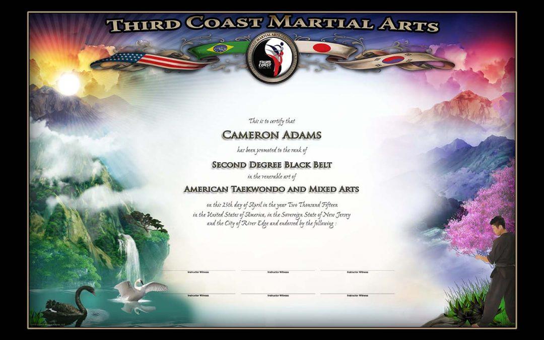 Third Coast Martial Arts – Black Belt Certificate
