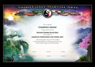 Third Coast Martial Arts – Black Belt Certificate