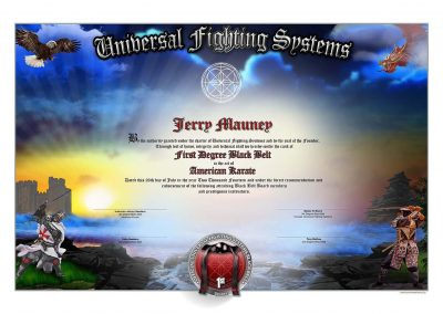 Universal Fighting Systems – Black Belt Certificate