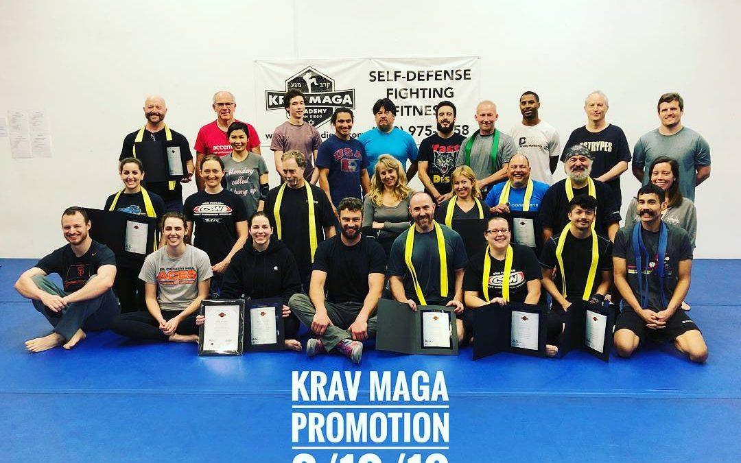 Krav Maga Academy, San Diego – Belt Rank Promotion