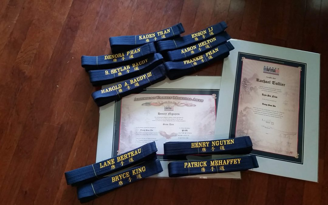 American Family Martial Arts – Dan Graduation Certificates