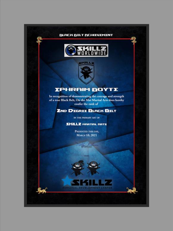 Skillz Vertical template by Martial Art Certificates